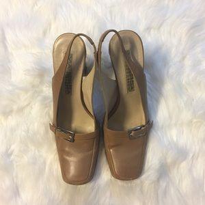 Via Spiga | Soft Brown Leather Slingback Heels